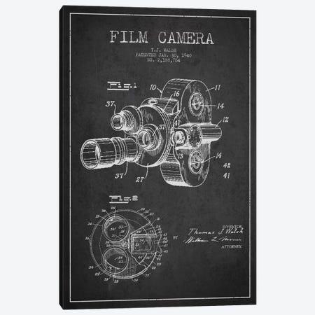 Camera Charcoal Patent Blueprint Canvas Print #ADP2755} by Aged Pixel Art Print