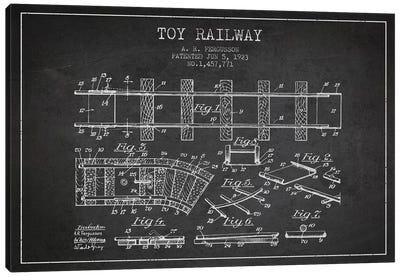 A.R. Fergusson Toy Railway Patent Sketch (Charcoal) Canvas Art Print