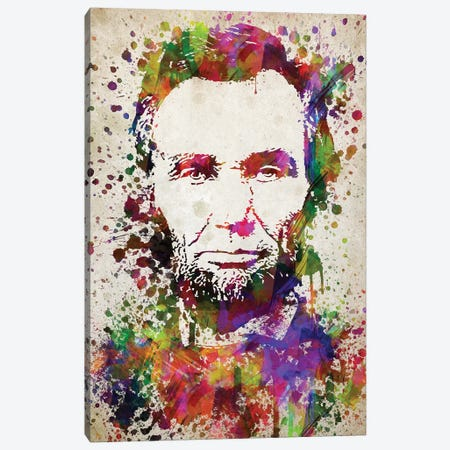 Abraham Lincoln Canvas Print #ADP2767} by Aged Pixel Canvas Art