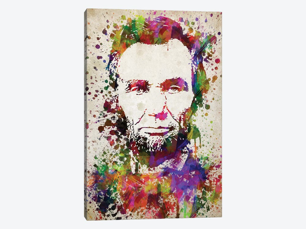 Abraham Lincoln by Aged Pixel 1-piece Canvas Wall Art