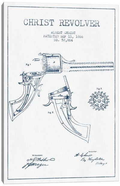 Albert Christ Christ Revolver Patent Sketch (Ink) Canvas Art Print