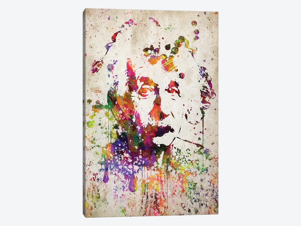 Albert Einstein by Aged Pixel 1-piece Canvas Artwork