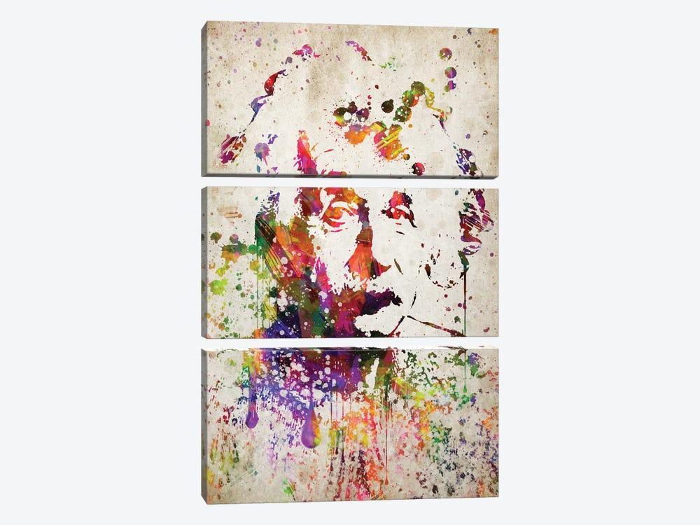 Albert Einstein by Aged Pixel 3-piece Canvas Artwork