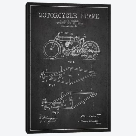 Allen A. Horton Motorcycle Frame Patent Sketch (Charcoal) Canvas Print #ADP2775} by Aged Pixel Canvas Art Print