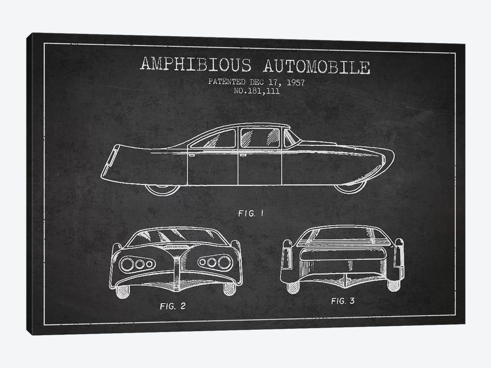 Amphibious Automobile Patent Sketch (Charcoal) II by Aged Pixel 1-piece Art Print