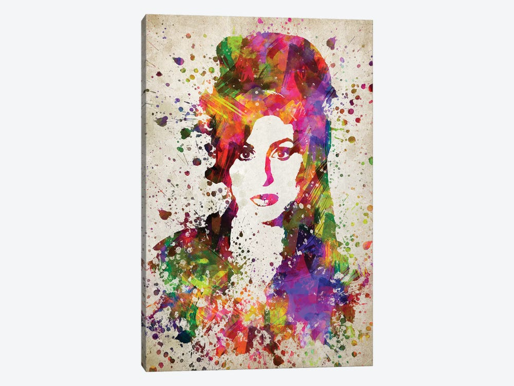 Amy Winehouse by Aged Pixel 1-piece Canvas Artwork