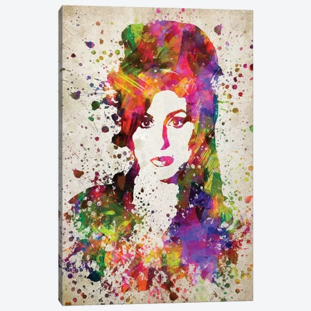 Amy Winehouse Canvas Print #ADP2783} by Aged Pixel Canvas Art Print
