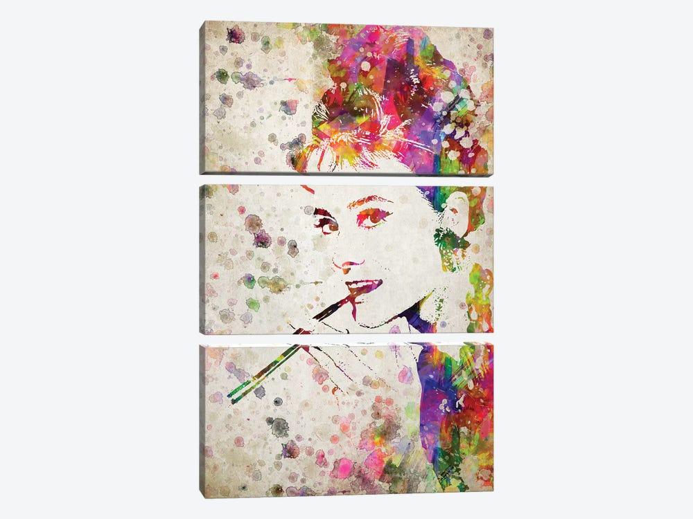 Audrey Hepburn by Aged Pixel 3-piece Canvas Art Print