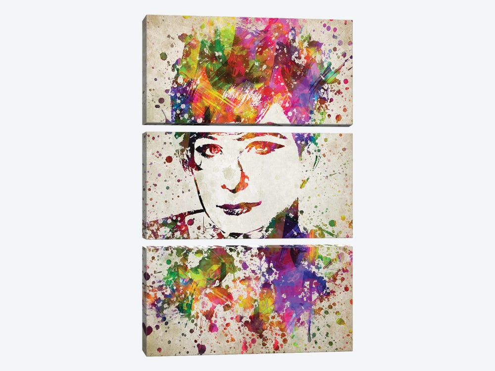 Barbara Streisand by Aged Pixel 3-piece Canvas Art