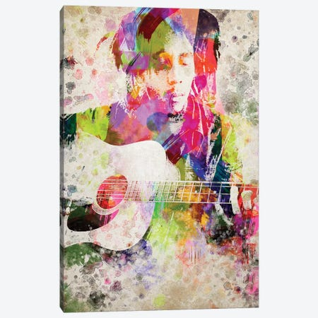 Bob Marley Canvas Print #ADP2802} by Aged Pixel Canvas Artwork