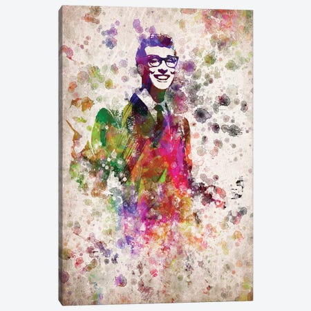 Buddy Holly Canvas Print #ADP2803} by Aged Pixel Canvas Wall Art