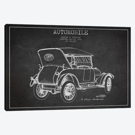 Charles W. McKinley Automobile Patent Sketch (Charcoal) Canvas Print #ADP2809} by Aged Pixel Canvas Wall Art