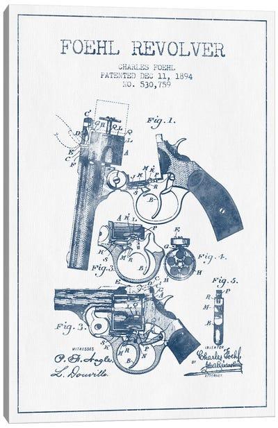Charles Foehl Foehl Revolver Patent Sketch (Ink) Canvas Art Print