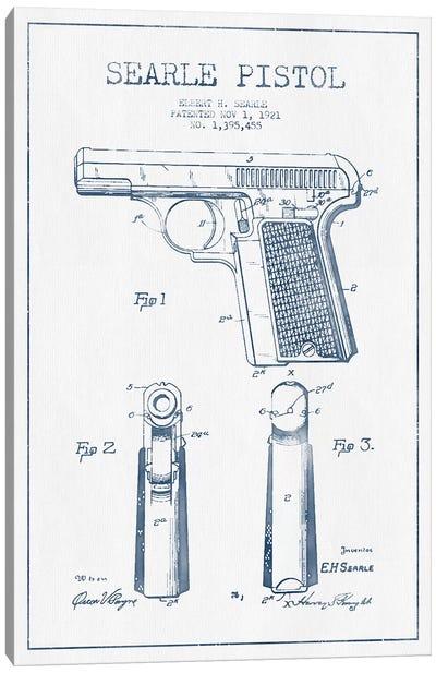 E.H. Searle Searle Pistol Patent Sketch (Ink) Canvas Art Print