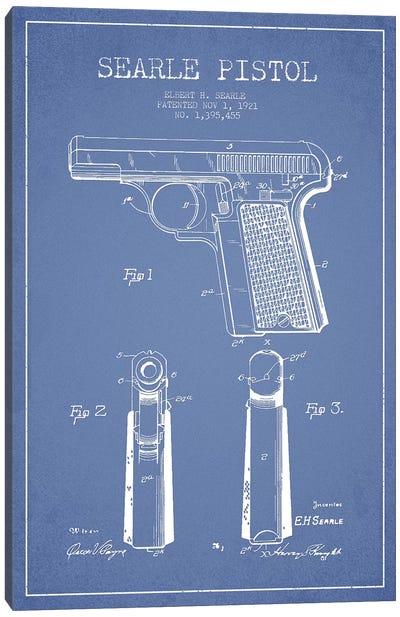 E.H. Searle Searle Pistol Patent Sketch (Light Blue) Canvas Art Print
