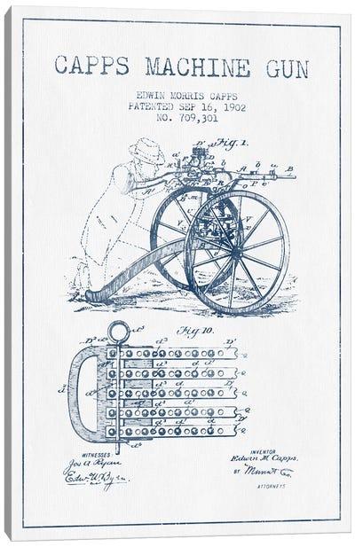 E.M. Capps Machine Gun Patent Sketch (Ink) I Canvas Art Print
