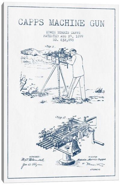 E.M. Capps Machine Gun Patent Sketch (Ink) II Canvas Art Print