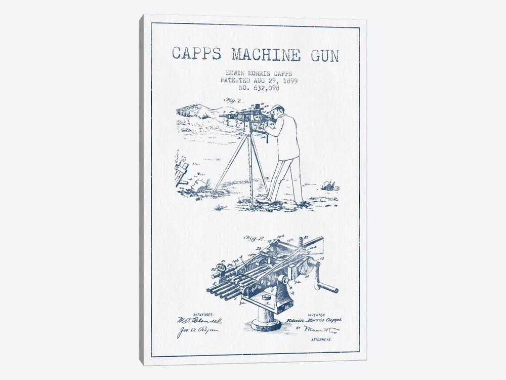 E.M. Capps Machine Gun Patent Sketch (Ink) II by Aged Pixel 1-piece Art Print