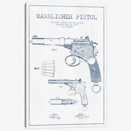 F.R. Von Mannlicher Mannlicher Pistol Patent Sketch (Ink) Canvas Print #ADP2869} by Aged Pixel Canvas Art