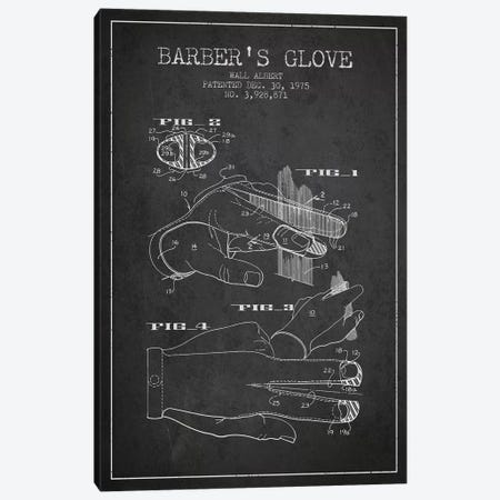Babers Glove Charcoal Patent Blueprint Canvas Print #ADP288} by Aged Pixel Art Print