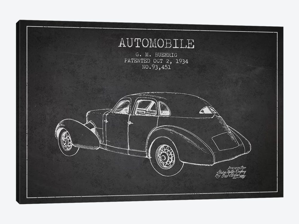 G.M. Buehrig Cord Automobile (Charcoal) I by Aged Pixel 1-piece Canvas Wall Art