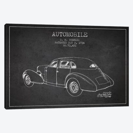 G.M. Buehrig Cord Automobile (Charcoal) I Canvas Print #ADP2913} by Aged Pixel Canvas Artwork
