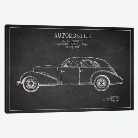 G.M. Buehrig Cord Automobile (Charcoal) III Canvas Print #ADP2915} by Aged Pixel Art Print