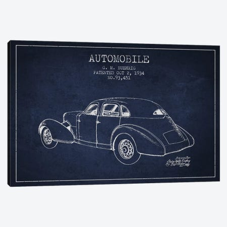 G.M. Buehrig Cord Automobile (Navy Blue) I Canvas Print #ADP2916} by Aged Pixel Canvas Art Print