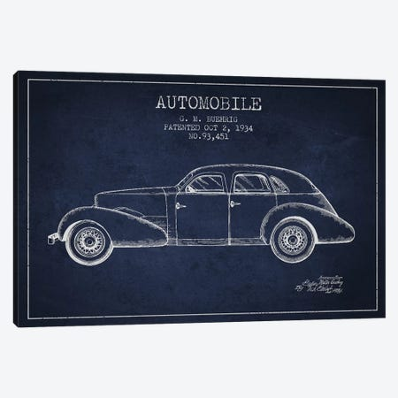 G.M. Buehrig Cord Automobile (Navy Blue) III Canvas Print #ADP2918} by Aged Pixel Canvas Artwork