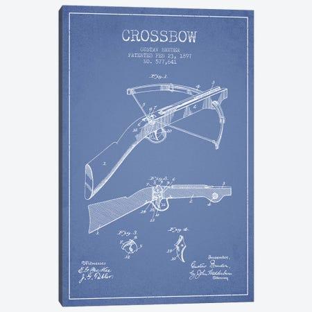Gustav Bruder Crossbow Patent Sketch (Light Blue) Canvas Print #ADP2938} by Aged Pixel Canvas Art
