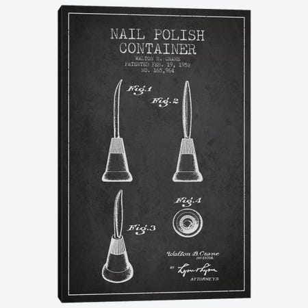 Container Nail Polish Charcoal Patent Blueprint Canvas Print #ADP293} by Aged Pixel Canvas Art