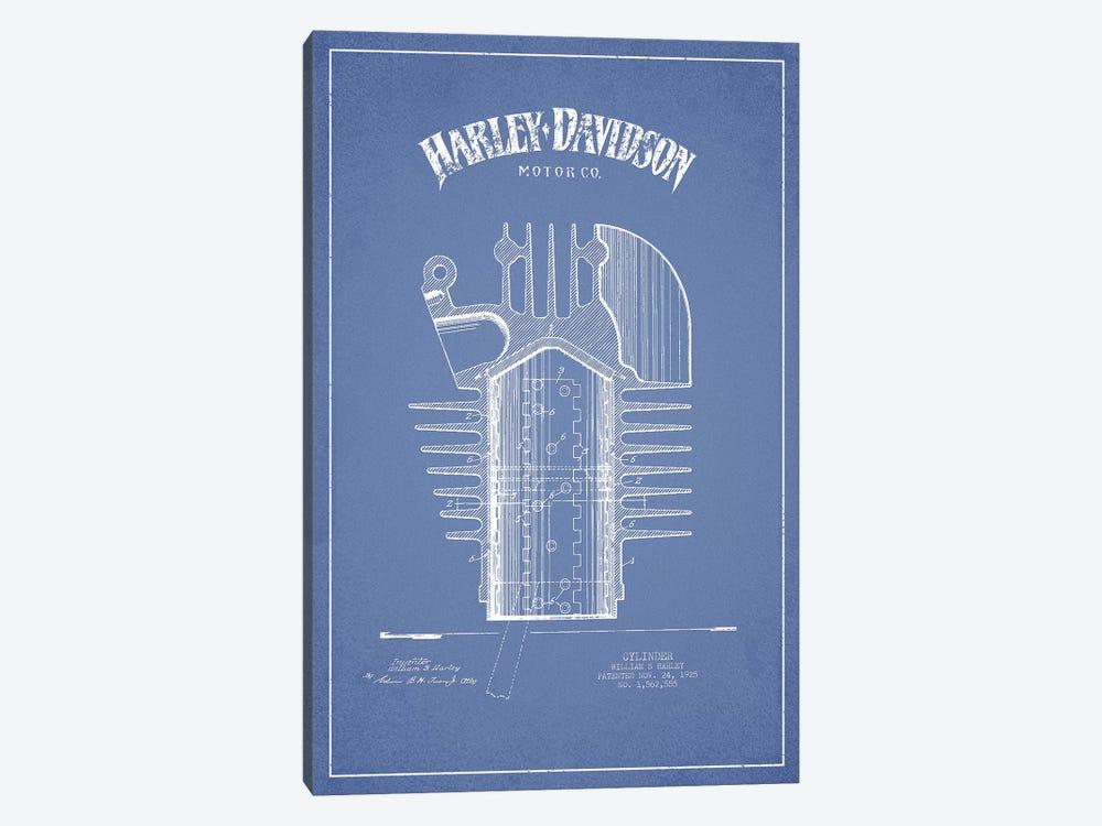Harley-Davidson Motorcycles Cylinder (Light Blue) by Aged Pixel 1-piece Art Print