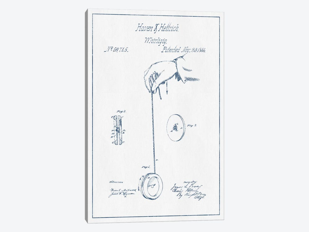 Haven & Hettrich Whirligig Patent Sketch (Ink) by Aged Pixel 1-piece Art Print