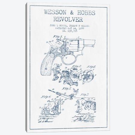 J.H. Wesson & J.L. Hobbs Revolver Patent Sketch (Ink) Canvas Print #ADP2978} by Aged Pixel Canvas Artwork