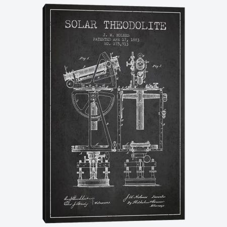 J.W. Holmes Solar Theodolite Patent Sketch (Charcoal) Canvas Print #ADP2986} by Aged Pixel Canvas Art