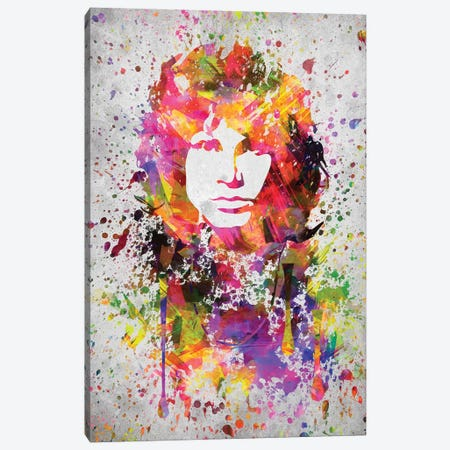 Jim Morrison Canvas Print #ADP2994} by Aged Pixel Art Print