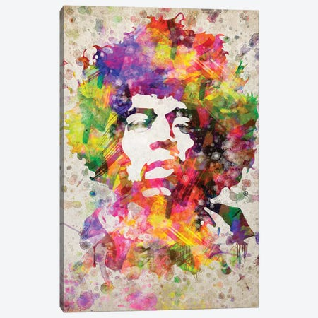 Jimi Hendrix Canvas Print #ADP2995} by Aged Pixel Canvas Print