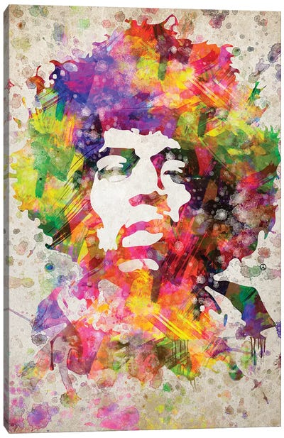 Jimi Hendrix Canvas Art Print