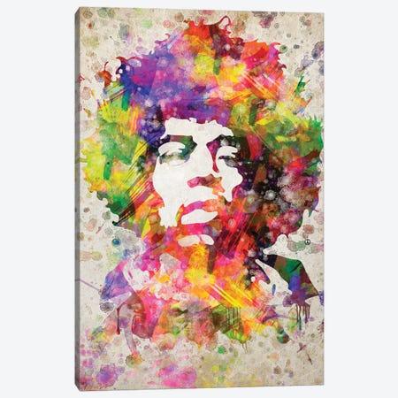 Jimi Hendrix Canvas Print #ADP2995} by Aged Pixel Canvas Print