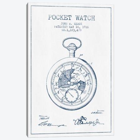 John A. Meroz Pocket Watch Pattern Sketch (Ink) Canvas Print #ADP2997} by Aged Pixel Art Print