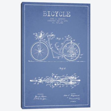 John C. Raymond Bicycle Patent Sketch (Light Blue) Canvas Print #ADP3000} by Aged Pixel Canvas Print