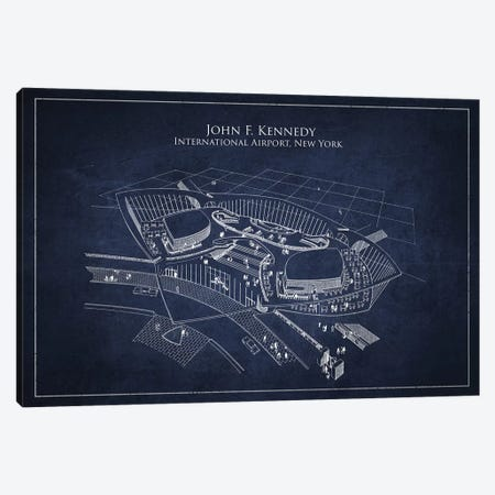John F. Kennedy International Airport, New York Canvas Print #ADP3001} by Aged Pixel Canvas Print