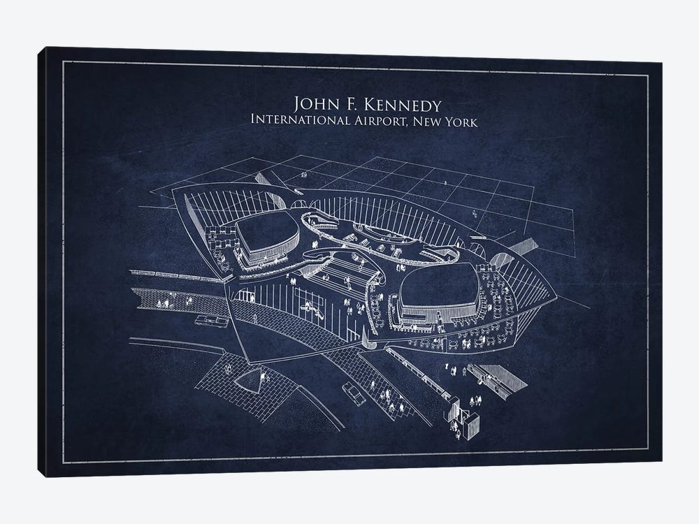 John F. Kennedy International Airport, New York by Aged Pixel 1-piece Canvas Print