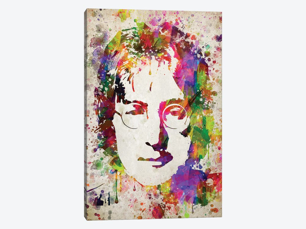 John Lennon by Aged Pixel 1-piece Canvas Wall Art