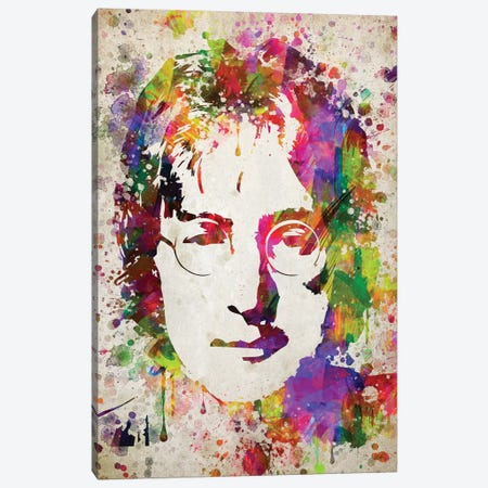John Lennon Canvas Print #ADP3002} by Aged Pixel Canvas Art Print