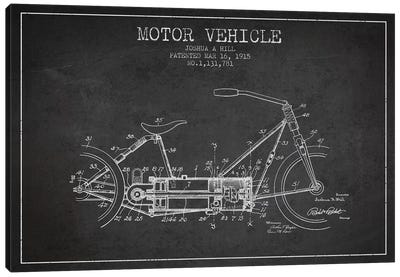 Joshua A. Hill Motor Vehicle Patent Sketch (Charcoal) Canvas Art Print