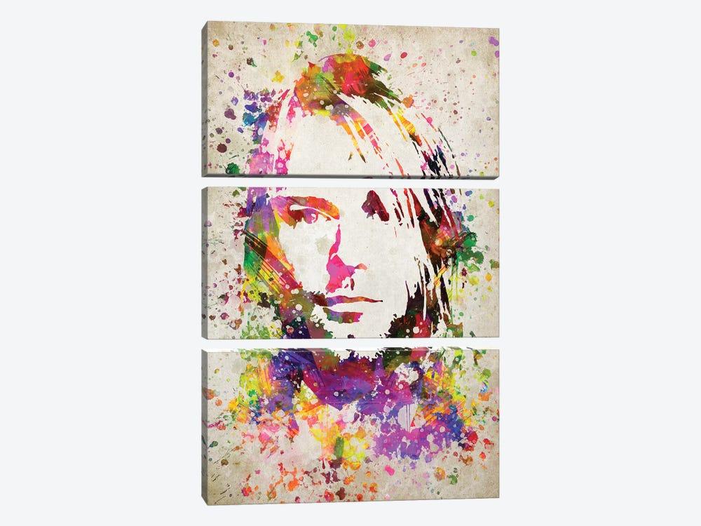 Kurt Cobain by Aged Pixel 3-piece Canvas Artwork