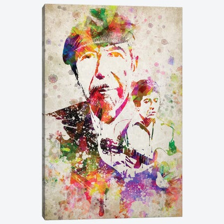 Leonard Cohen Canvas Print #ADP3029} by Aged Pixel Canvas Print