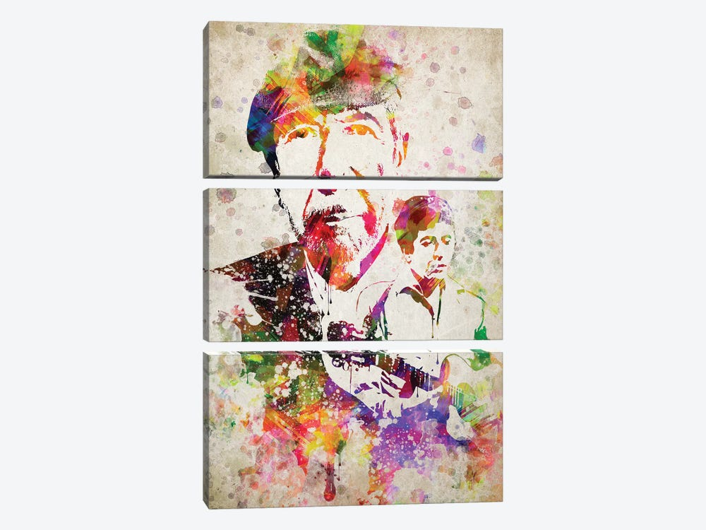 Leonard Cohen by Aged Pixel 3-piece Canvas Print