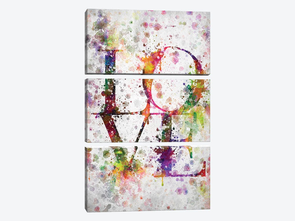 Love by Aged Pixel 3-piece Canvas Print